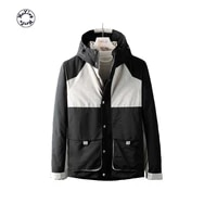 mens down jacket splicing outdoor leisure 2021 new fashion style warm down coat