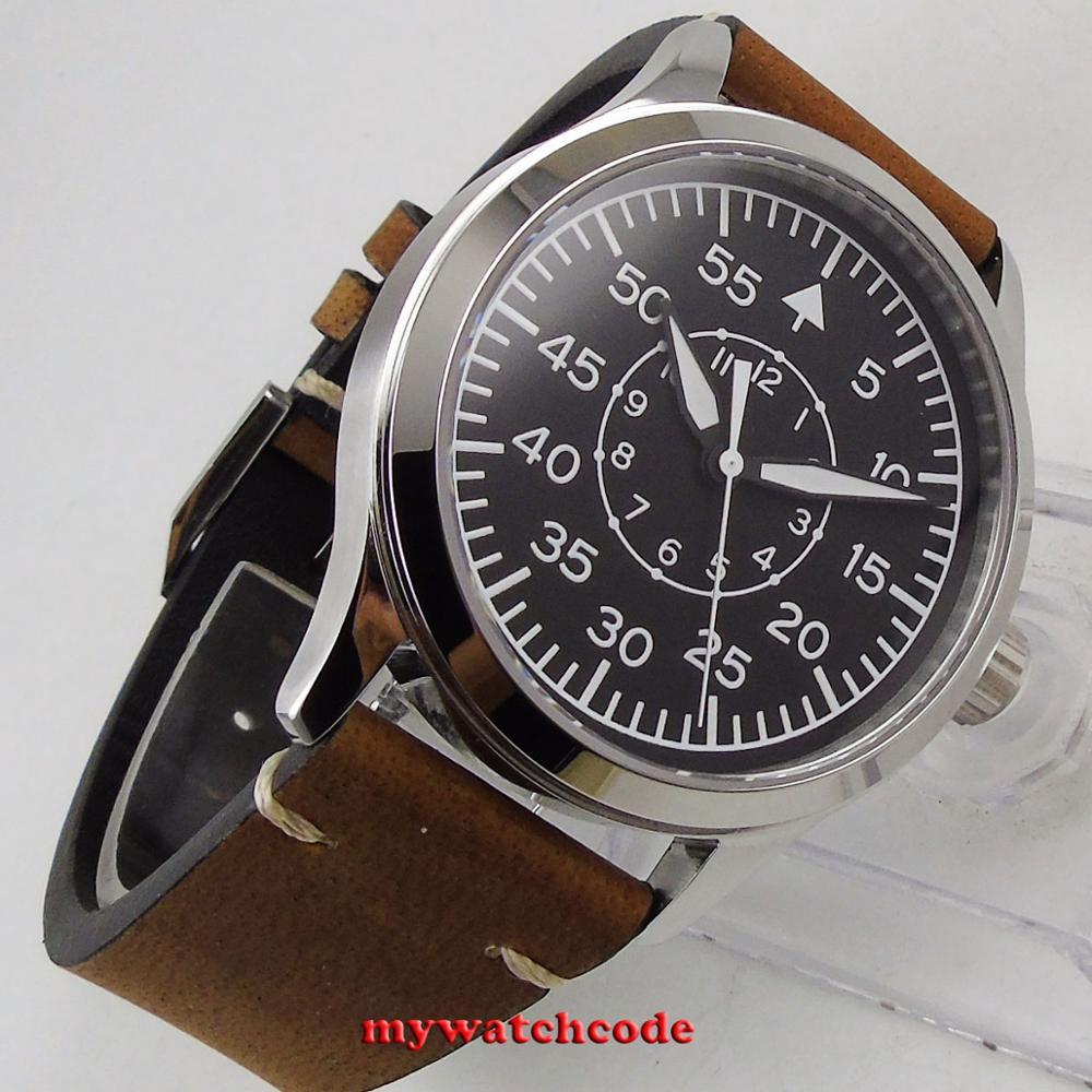 ساعة رجالية أوتوماتيكية ، مينا معقمة ، علامات مضيئة ، زجاج ياقوتي ، 42 مللي متر ، اليابان ، ميوتا 8215 ، بيع بالجملة