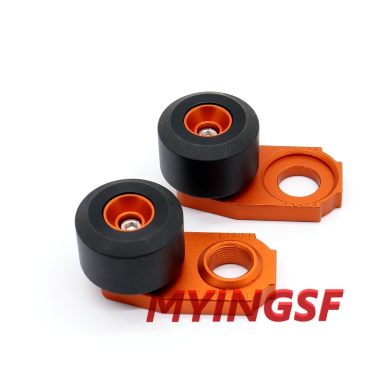 Motorcycle Chain Adjuster Regulator Sliders For KTM EXC 125 200 250 300 380 400 450 520 525 Rear Wheel Protector