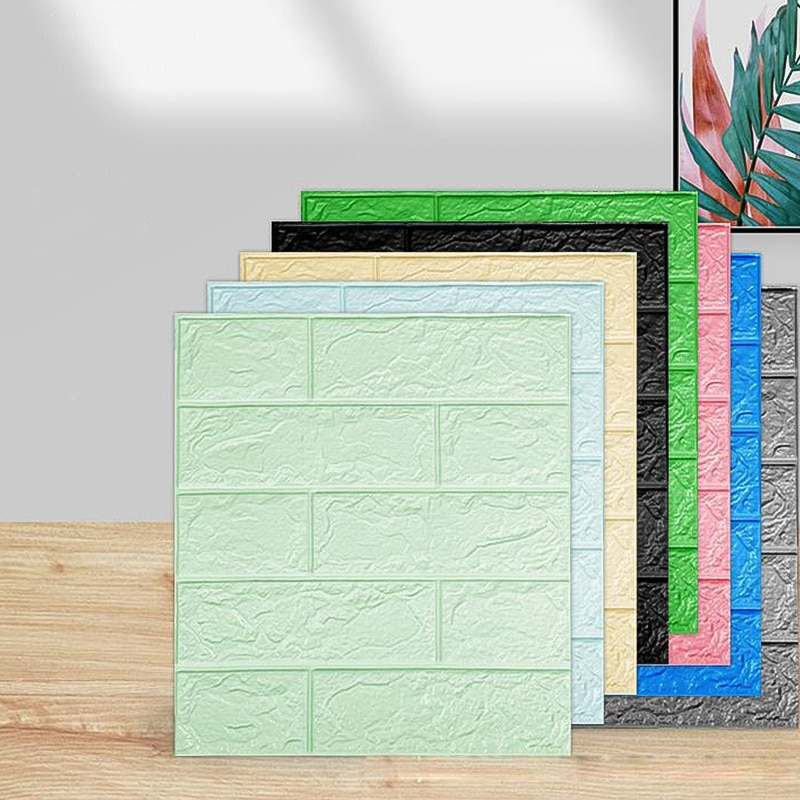 38*35 3D Wall Stickers Self Adhesive Foam Brick Room Decor DIY Wallpaper Wall Decor Living Wall Sticker For Kids Room Renovation