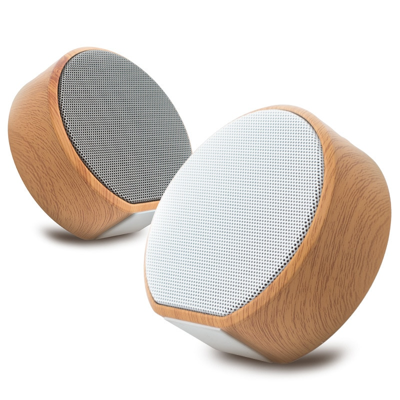 Minialtavoz portátil De madera con Bluetooth, dispositivo De audio con Bluetooth, USB,...