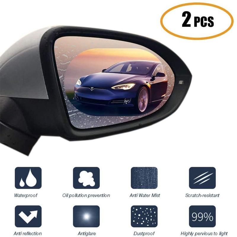 2PCS Car Motorbike Rearview Mirror Film HD Anti-Fog Anti-Scratch Rainproof Retrovisor Clear Cover Auto Mirror Sticker For Honda