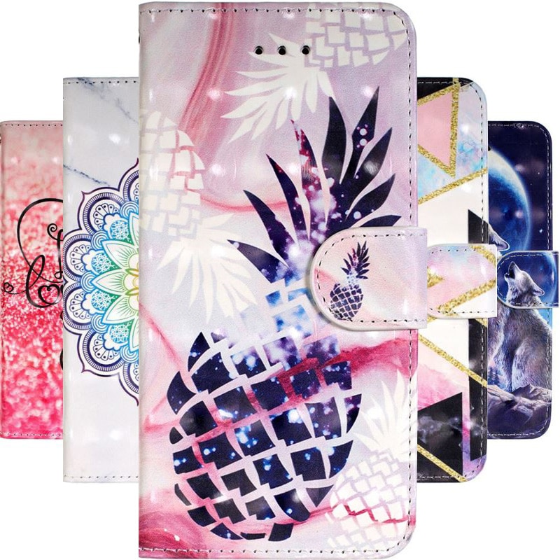 Чехол-кошелек в виде книги для Huawei Honor 8S 8A 8X 10 Lite P Smart Plus P40 P20 P30 Lite Y5 Y6 2018 Y7 Y9 2019 Coque Flower E16F