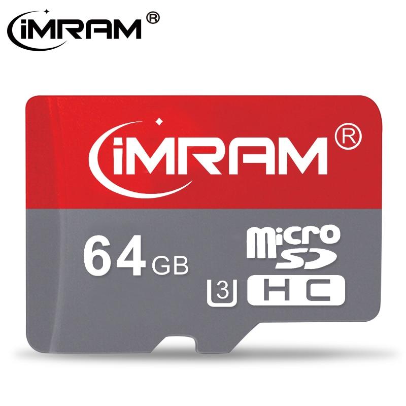 iMRAM Brand Micro SD TF Card 8GB 16GB 32GB 64GB 128GB 256GB Class 10 Flash Memory Microsd Card 256 GB for Smartphone Adapter
