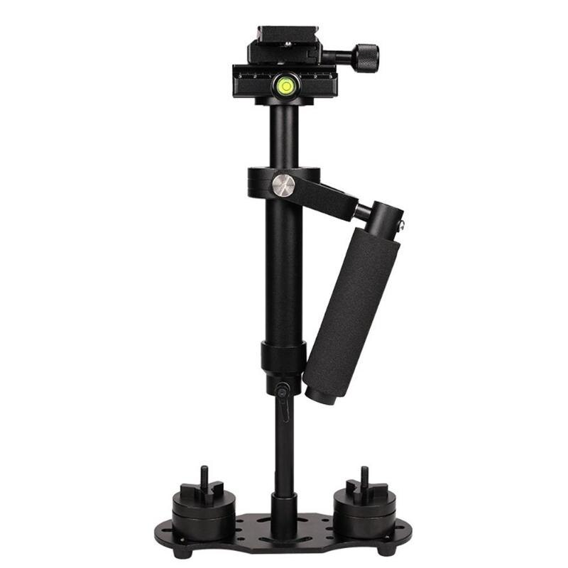 Estabilizador de vídeo de aleación de aluminio S40 portátil, montaje para cámara DSLR DV de teléfono, encendedor de aleación de aluminio de alta resistencia, más portátil