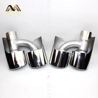 accessories car exhaust pipe tailpipe stainless steel double h shaped muffler suitable for benz 146 ml350 ml300 ml500 ml63