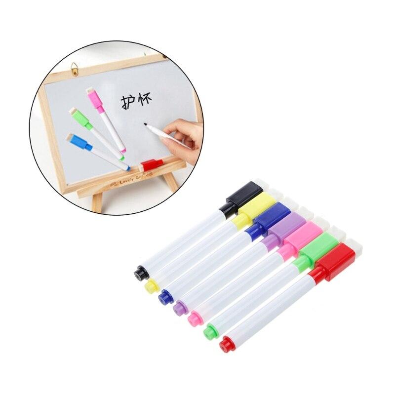 5pack 10 black fine nip dry erase liquid chalk marker pen for whiteboard writing sign 5Pcs Whiteboard Pen Erasable Dry White Board Markers Black Ink Fine Size Nip