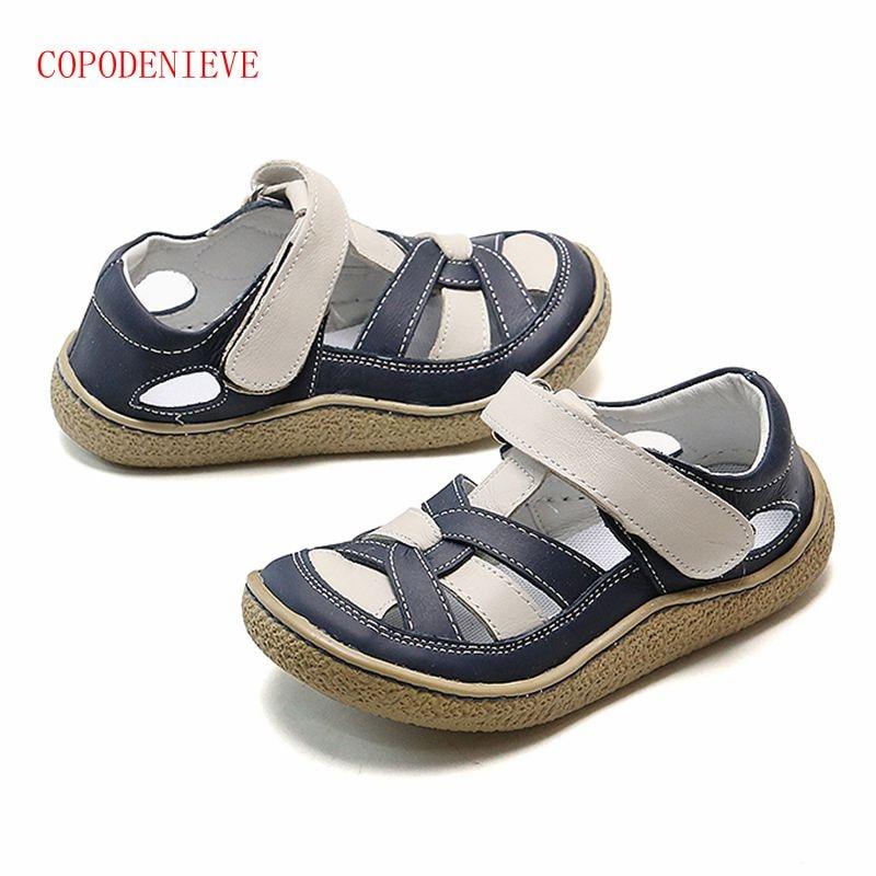 COPODENIEVE نمط جديد من موضة عادية بنين بنات صندل للطفل أحذية المضادة للانزلاق الأطفال الصنادل الفتيات الصنادل الاطفال