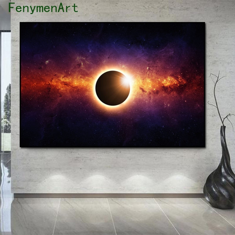 Galaxy Starry Sky Posters and Prints Solar System Planets Canvas Paintings Modern Art Wall Pictures for Living Room Home Decor