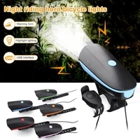 2 in 1 led bike light with electric bell trembler buzzers horn switch cycling bicycle lamp battery built in usb charging