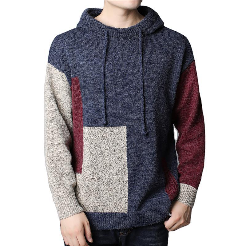 Plus Size Men Hoodie Knitted Sweaters Fashion Men's Jackets Outwear Clothes Men Top