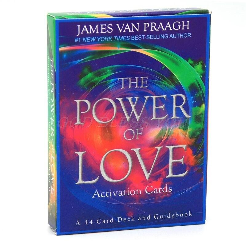 O poder da ativação do amor tarô 44 cartas baralho adivinhação oracle jogo de tabuleiro de festa da família transporte da gota
