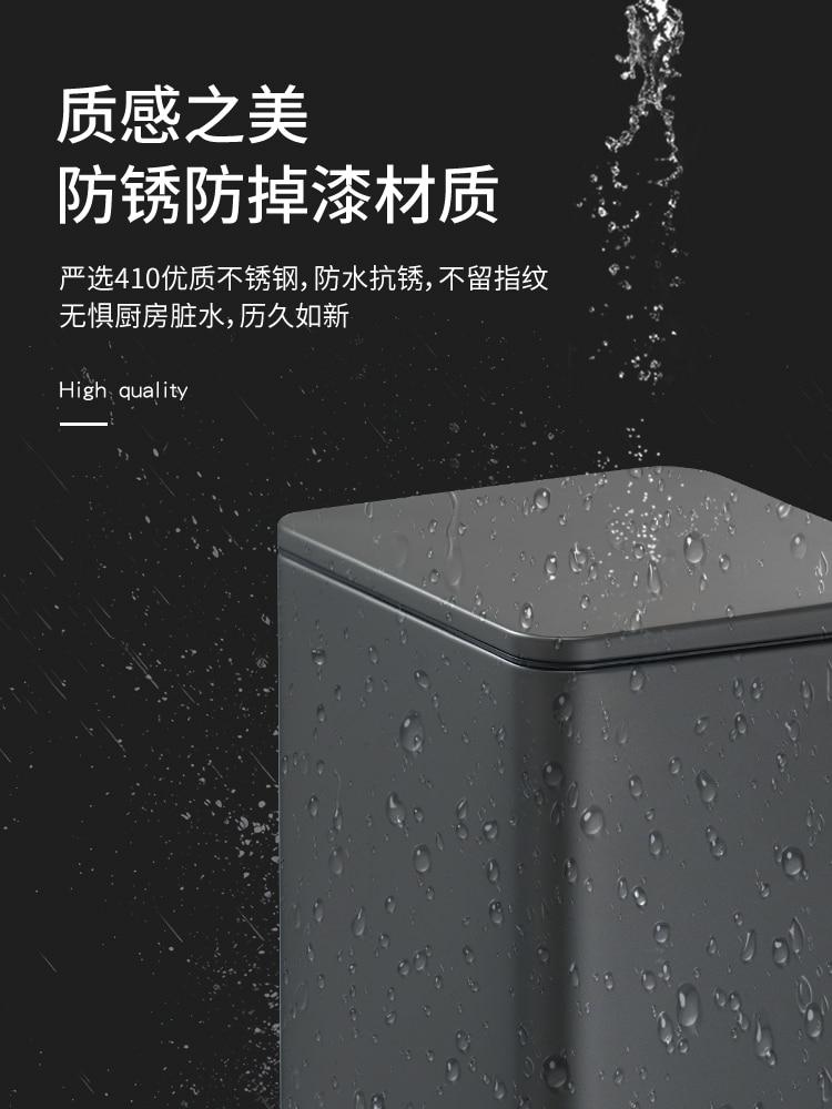 Big Size Modern Trash Can Bathroom Garbage Kitchen Trash Compactor Bin Portable Toilet Luxury Basurero Cocina Cleaning Supplies enlarge