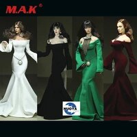 16 female strapless long sleeves evening dress model 4 colors fit ph tbl doll only dress