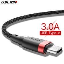Câble de USB Type C USLION pour Samsung S10 S9 S8 3A câble de USB C de fil de Charge de téléphone type-c de Charge rapide pour Xiaomi mi9 Redmi note 7