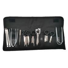 Инструменты для снятия автомагнитолы, 20 шт., набор для снятия ключей, CD навигация, инструмент для удаления ключей для BMW Audi V W Opel, аксессуары для авторемонта