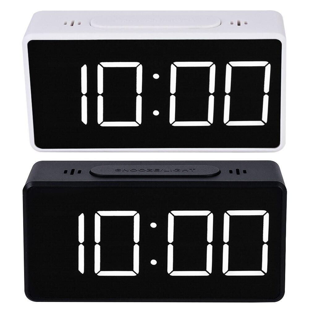 DIDIHOU, reloj Digital con espejo, alarma con pantalla LED, Reloj de escritorio Simple con USB para niños, 1 Uds.