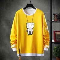 men crewneck sweatshirts long sleeve harajuku streetwear fashion plus size printing clothing mens casual sweatshirt tops