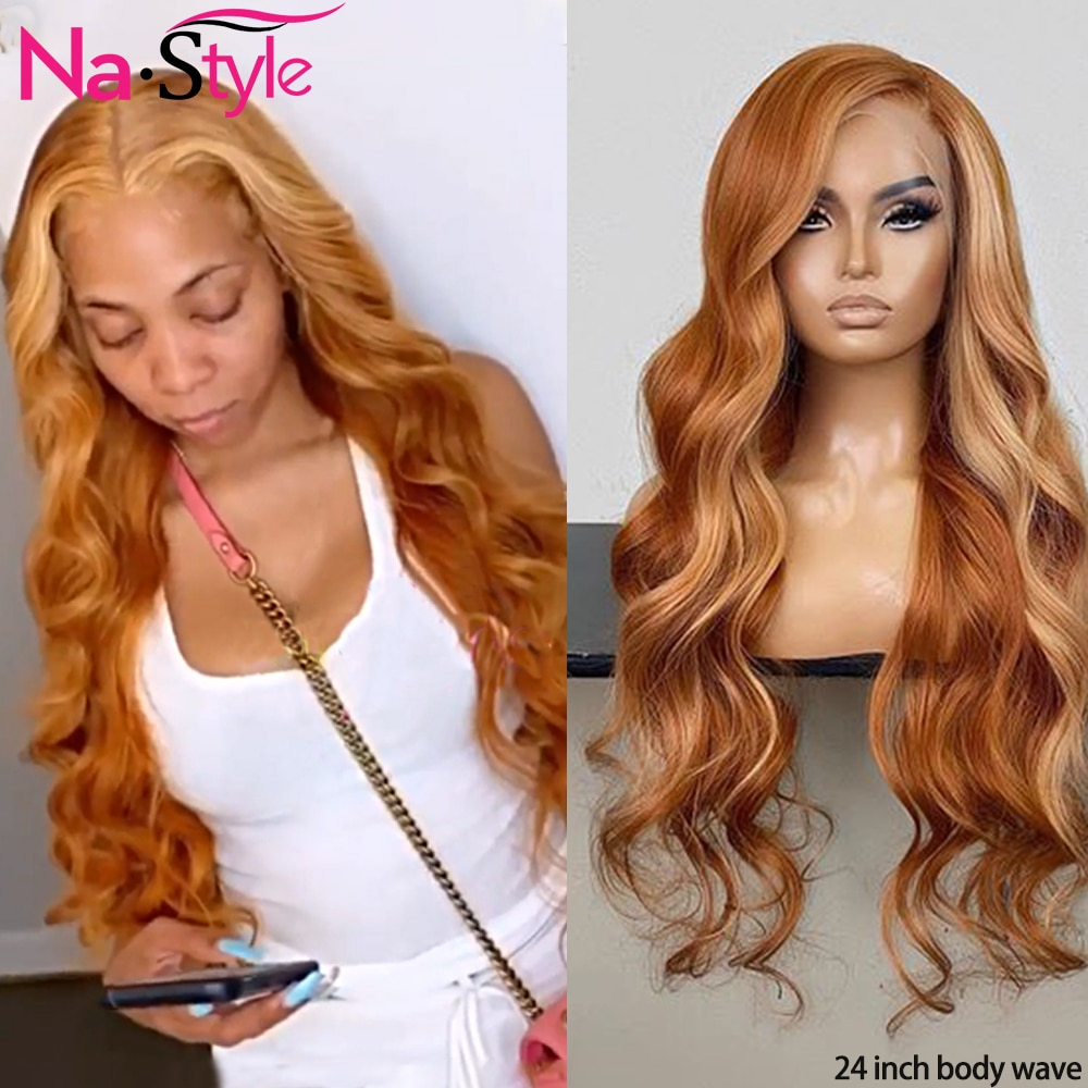Pelucas frontales de encaje de colores cabello humano onda del cuerpo 360 peluca frontal de encaje pelucas de cabello brasileño sin pegamento para mujeres 150% remy
