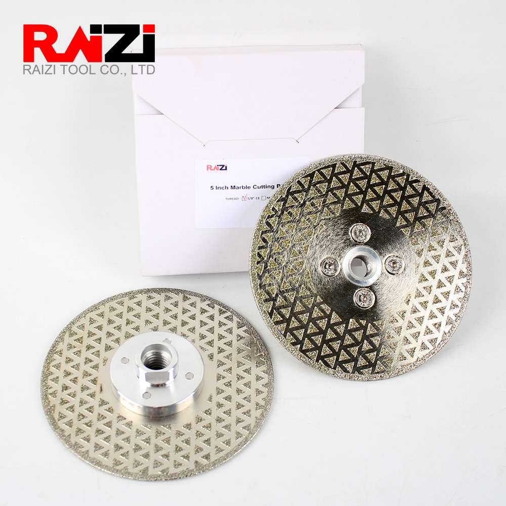 Raizi 5inch/125mm Electroplated Cutting Grinding Disc Wheel For Marble Ceramic Granite Double Sided Diamond Saw blade enlarge