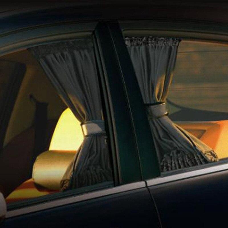 2 uds. Parasol Universal para coche, cortina lateral para ventana de coche, cortinas para coche, cortinas con estilo para Auto, ventanas, parasol, cubierta para persianas