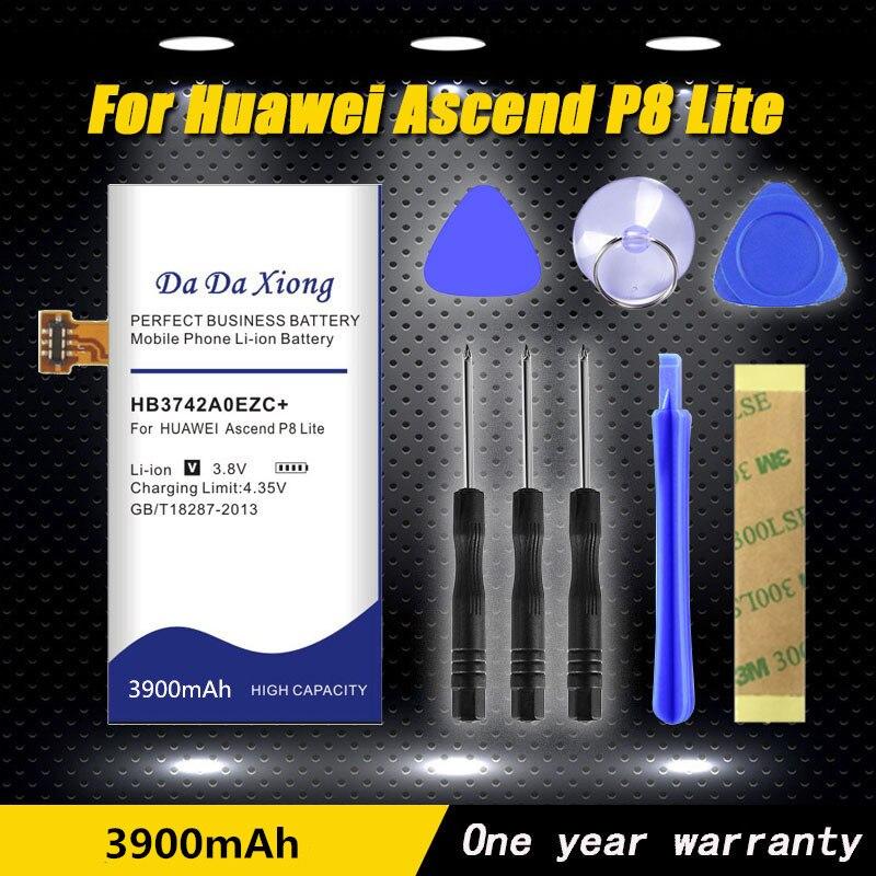 100% Original 3900mAh HB3742A0EZC + Bateria para Huawei Ascend P8 Lite Bateria GR3 2016 TAG-L21 L22 L23 L01 L03 L13 ALE-L21 UL00