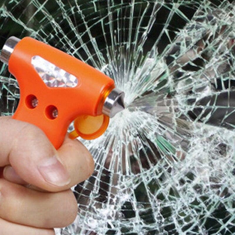 Car Emergency Escape Safety Gear Break Window Glass Hammer Belt Rope Cutter Tool 40FP15