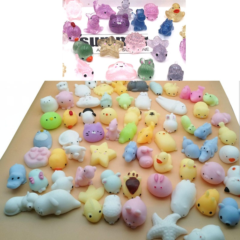 10-30PCS Kawaii Fidget Toys Pack Animals Squishy Anti-stress Toy Mochi Rising Antistress  Squishmallow Soft toy Toys For Girls enlarge
