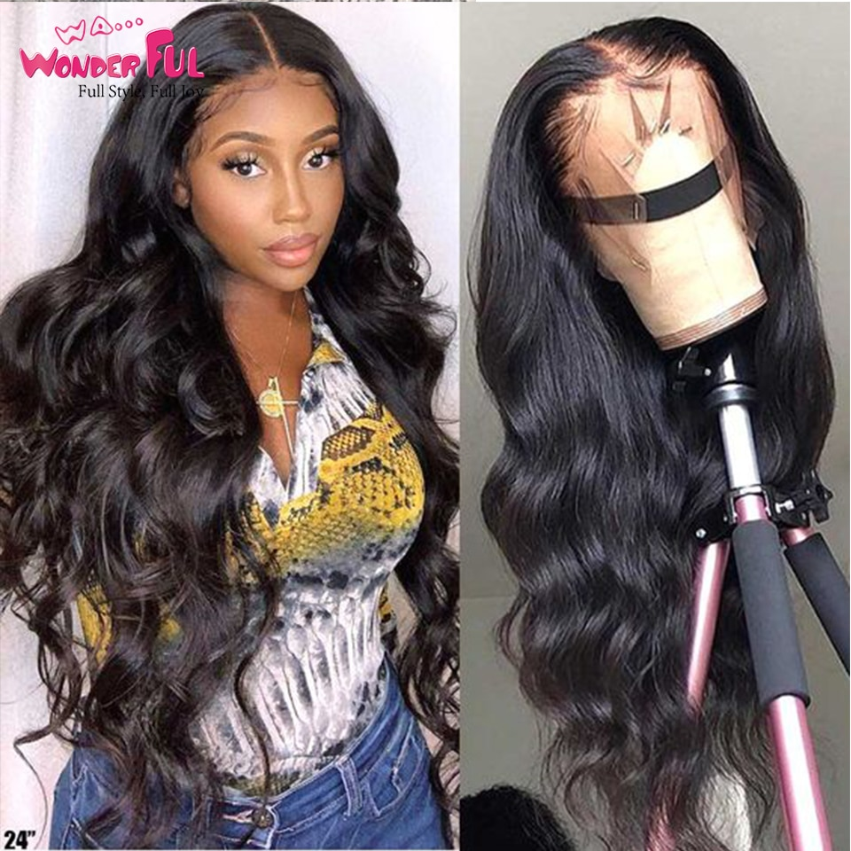 Body Wave Lace Front Wig Human Hair Wig Lace Frontal 360 Brazilian Body Wave Lace Frontal Wig Pre Plucked With Baby Hair