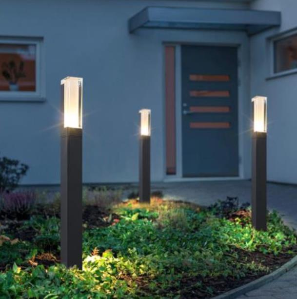Lámpara de jardín para césped LED resistente al agua, nuevo estilo, pilar de aluminio moderno, luz exterior para patio, villa, paisaje, césped, luz de bolardo