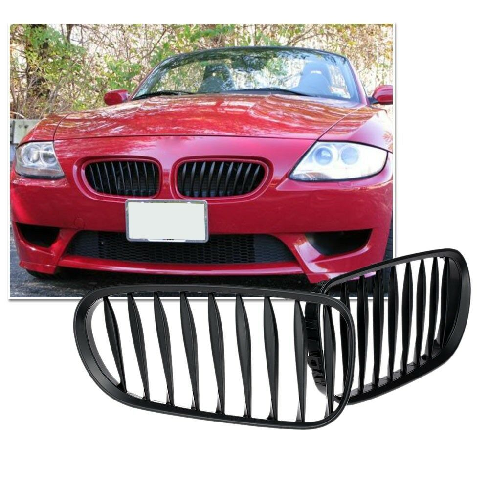 Frente del coche riñón rejilla parachoques negro mate frente riñón rejilla estilo deportivo de la parrilla para BMW Z4 E85 E86 03- 08 2004, 2005, 2006, 2007-08
