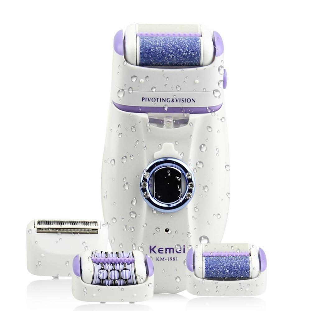 Kemei-depiladora eléctrica 3 en 1 para mujer, máquina de depilación femenina, recargable...