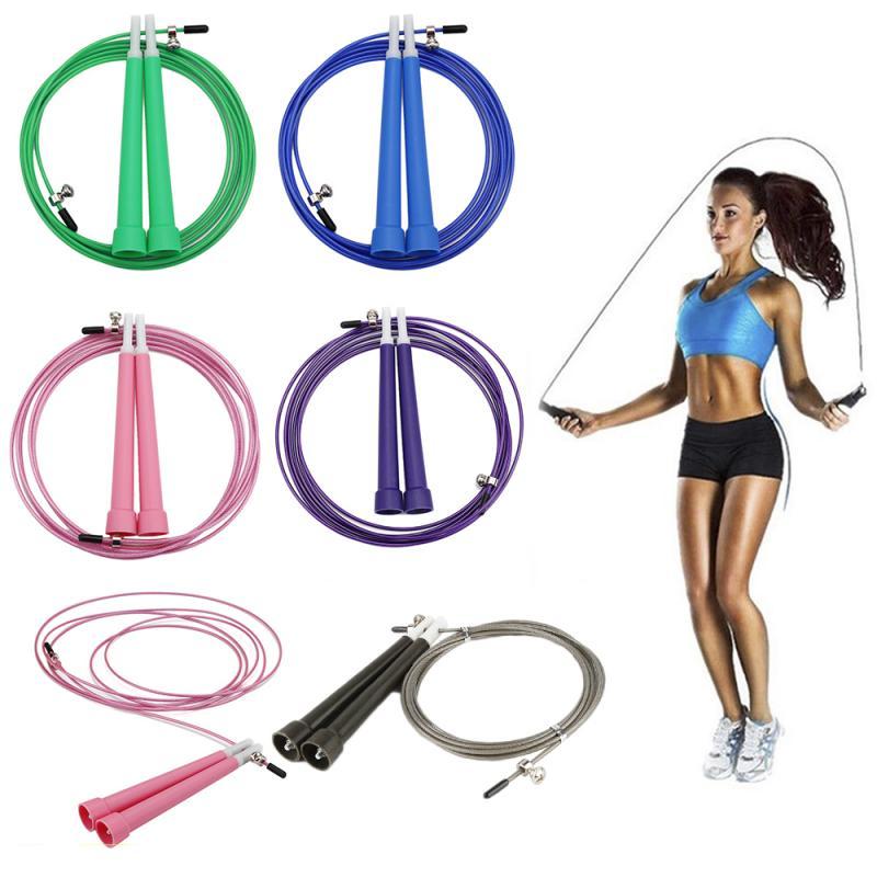 Corda de pular de nylon ajustável, corda de pular, velocidade de pulo, equipamento para ginástica em casa, academia, crossfit, 1 peça