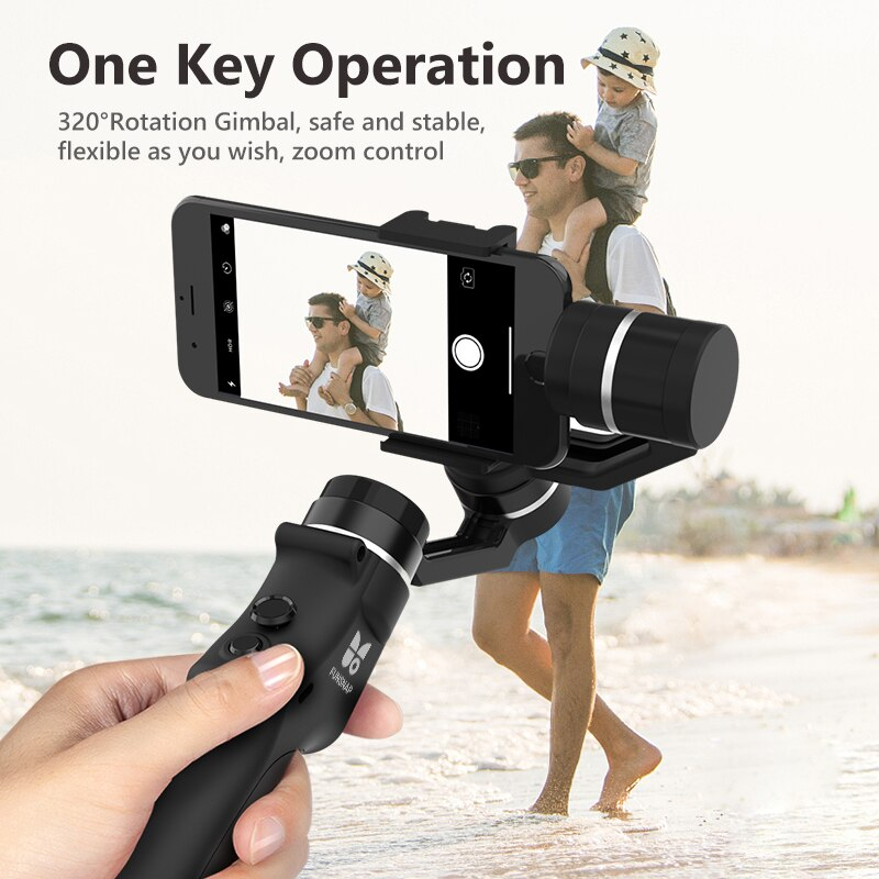 BOUTH  Capture 3-Axis Handheld Gimbal Stabilizer Wireless Bluetooth for iPhone Cellphone Gimbal Smartphone Video Record enlarge