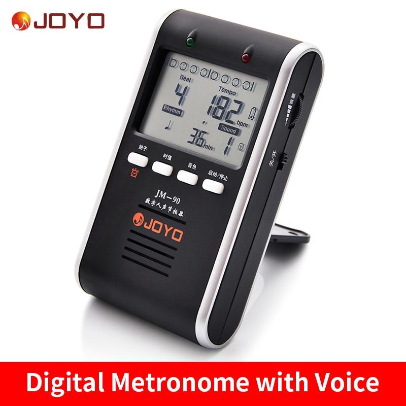 Joyo Digital Metronome with Voice Universal Guitars Rhythm Device Drum Piano Metronome Rechargeable
