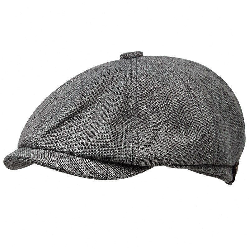 New men's casual newsboy hat spring autumn thin retro beret hat vintage fashion wild casual cap unis