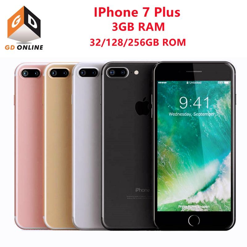 هاتف Apple iPhone 7 Plus الذكي بذاكرة وصول عشوائي 3 جيجا بايت وذاكرة قراءة فقط 32/128/256 جيجا بايت أصلي مفتوح وكاميرا 12 ميغا بيكسل 4G LTE وشاشة 5.5 بوصة ومعالج ...