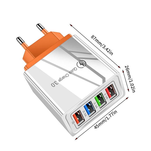 Quick Charge 3.0 For iPhone Charger Wall Fast Charging For Samsung S10 S9 S8 Plug Xiaomi Mi Huawei Mobile Phone Chargers Adapter 10