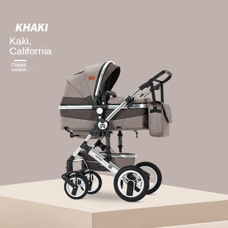Baby Stroller 3 In 1 with Car Seats Travel System High Landscape Multiple Stroller with Baby Cradle Newborn Stroller 3 In 1 enlarge