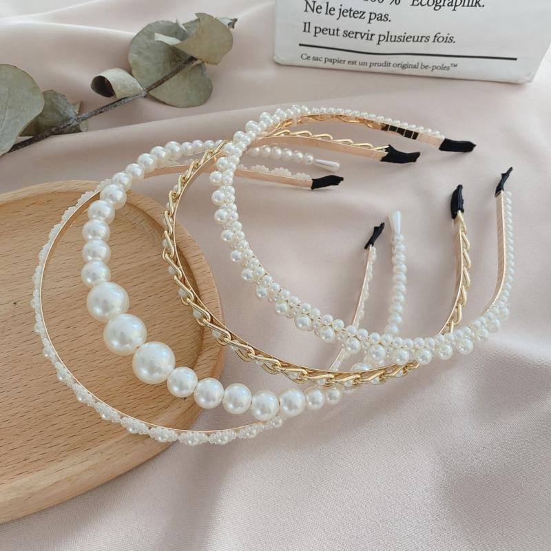 aliexpress.com - Xwen 2021 New Women Elegant Full Pearls Hairbands Sweet Headband Hair Bundle Lady Hair Hoops Fashion Accessories