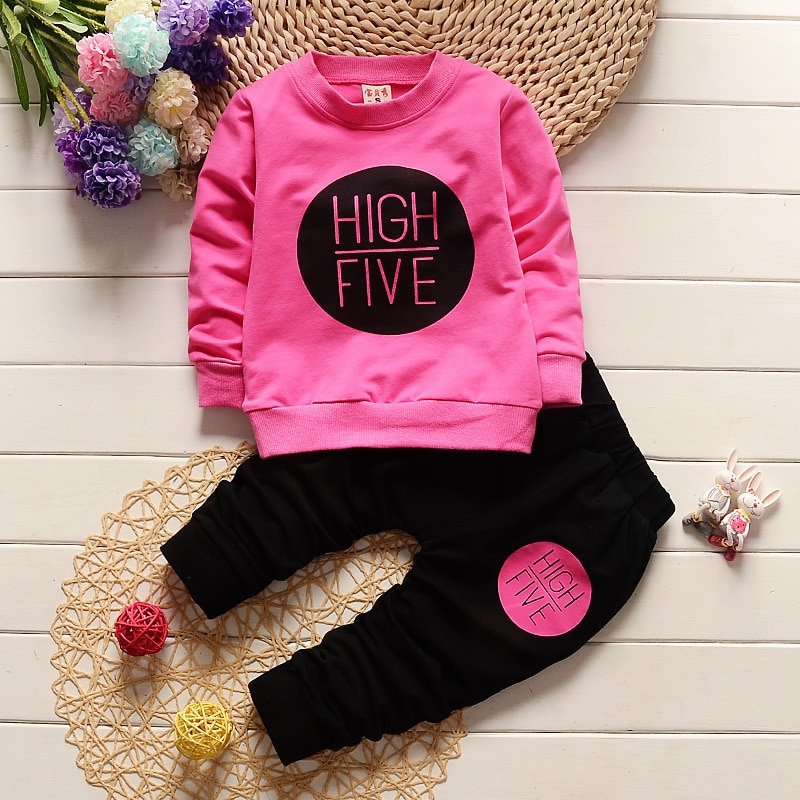 AliExpress - Newborn Baby Girl Clothes 2019 Casual Letter Long Sleeved T-shirts Tops + Pants Infant Clothing Kids Bebes Outfits Tracksuits