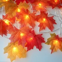 batteryusb led maple leaves garland string light thanksgiving decorations waterproof fall garland lights for patio window decor