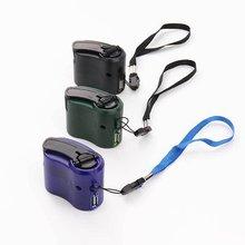 Teléfono Móvil energía de emergencia USB cargador con manivela manual generador eléctrico Universal carga móvil mano Dinamo carga
