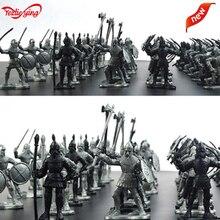 60 pièces militaire en plastique jouet enfants garçons soldats armée hommes épée bouclier soldat jouet modèle sable Table Figures jouets modèle Action Figur