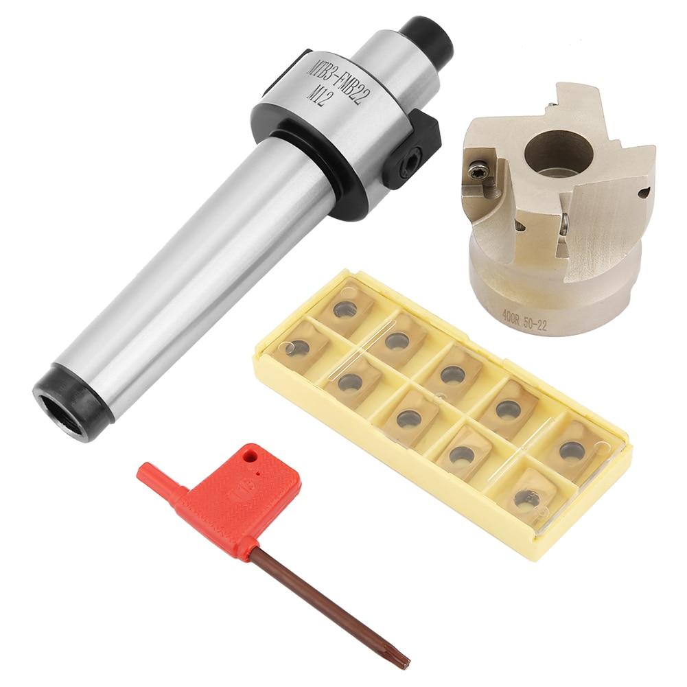 MT3-FMB22 extensión de soporte 400R-50-22 cortador de molino de cara 10 piezas APMT1604 insertos de carburo CNC