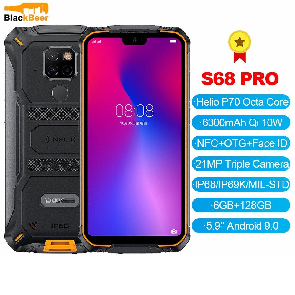 Перейти на Алиэкспресс и купить DOOGEE S68 Pro 5,84 дюймов Android 9,0 прочный для мобильного телефона IP68 Ударопрочный смартфон MTK P70 6 ГБ 128 Гб мобильный телефон 21MP AL камеры