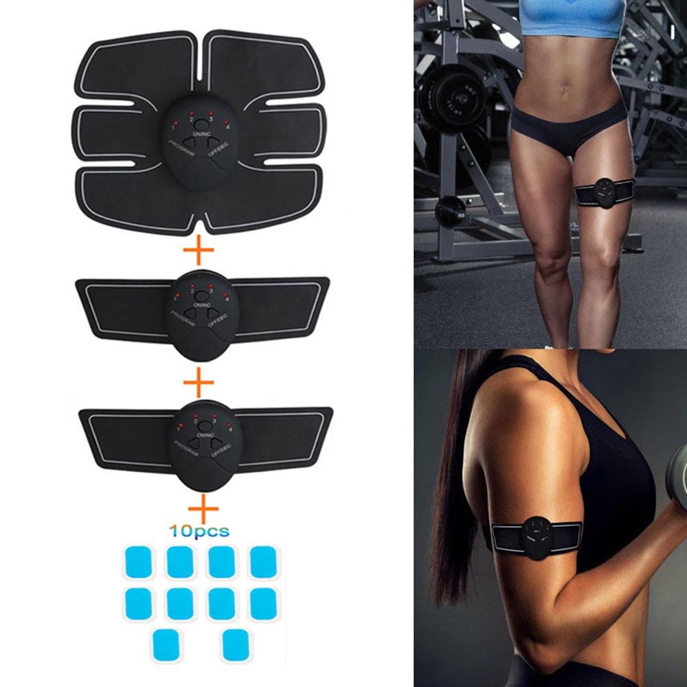 EMS беспроводное устройство для фитнеса из АБС-пластика, оборудование для тренировки мышц, упражнения для дома, тренажерного зала, эластичны...