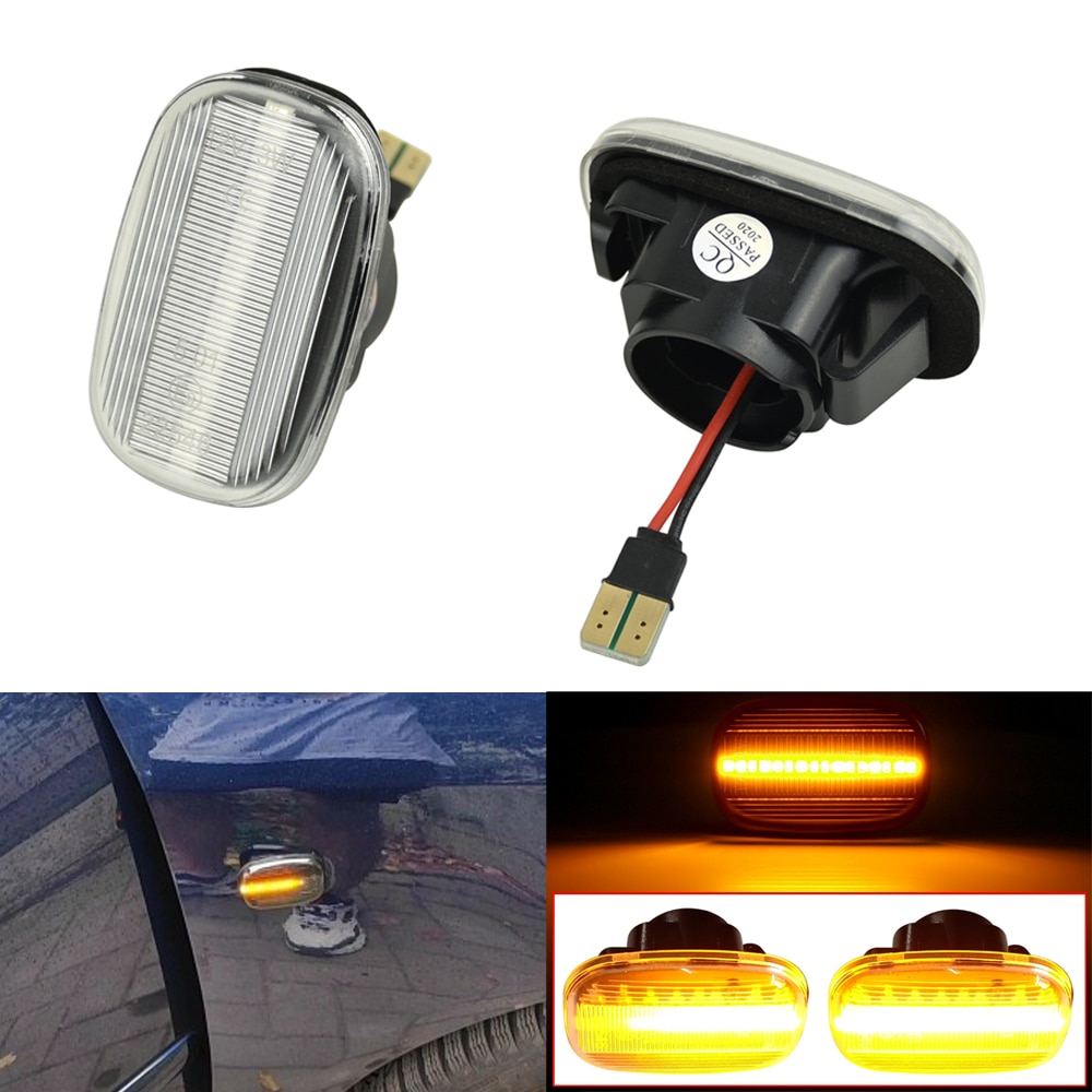For Toyota Corolla E10/E11/E12 ZE120 Hilux Surf N21 Yaris Verso Celica LED Dynamic Side Marker Turn Signal Light Sequential Lamp