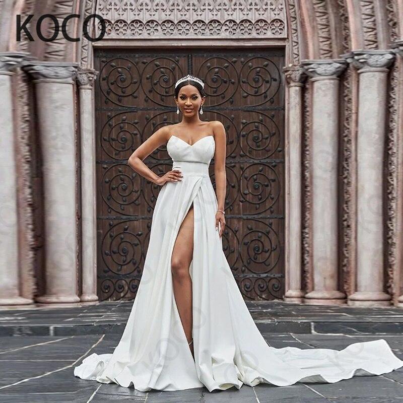 MACDUGAL-Vestido De Novia De satén con espalda descubierta para mujer, traje De...