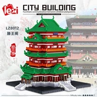 pavilion of prince teng architecture building set model kit steam construction toy gift for kids and adults 3312 pcs
